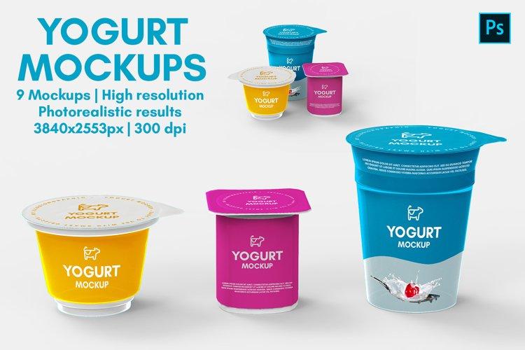 Yogurt Mockups - 9 Views example image 1