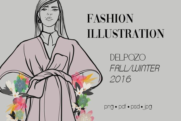 Fashion Illustration Clipart Sketching Delpozo Haute Couture