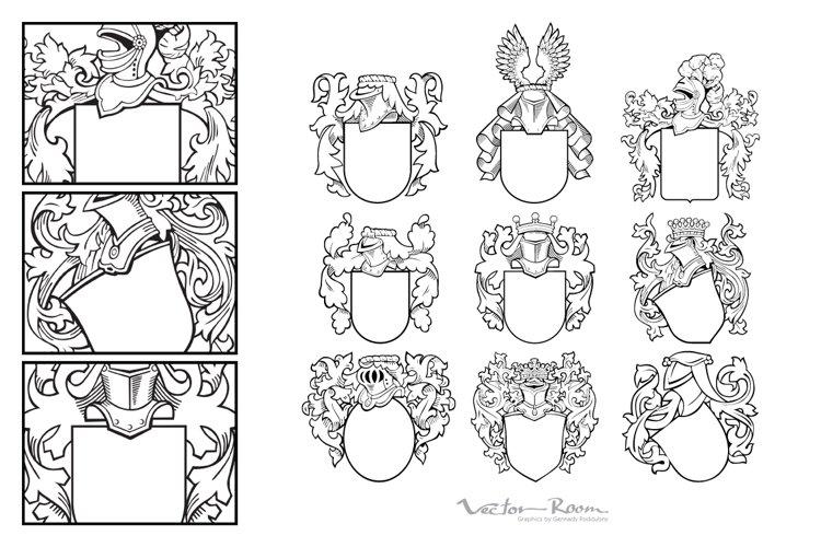 Set of Aristocratic Emblems Vol. II example image 1