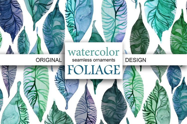 WATERCOLOR FOLIAGE patterns & motifs example image 1