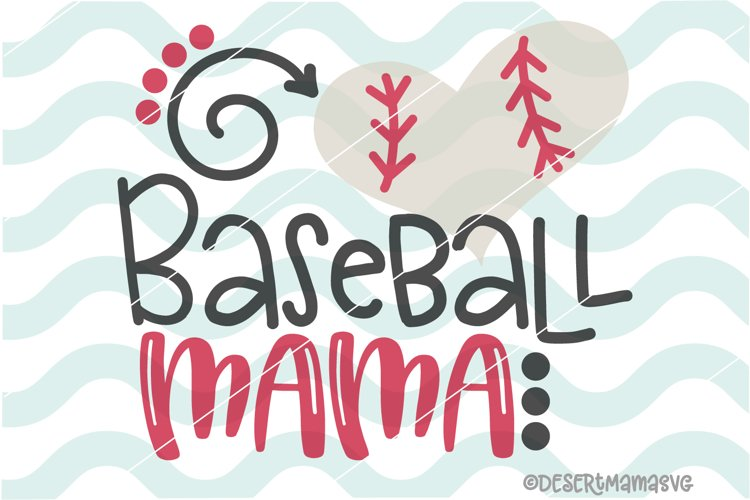 Baseball Mama SVG example image 1