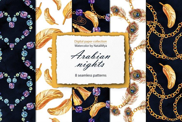 Arabian nights digital paper pack example image 1