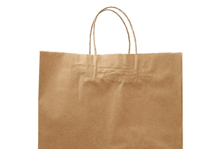 box, brown paper craft bag and disposable cups example image 1