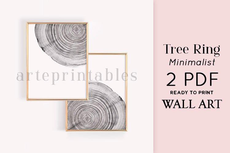 Tree Ring Minimalist Wall Art example image 1