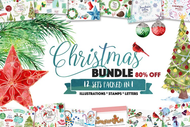 Christmas Sublimation Bundle | Chrismas of Illustrations