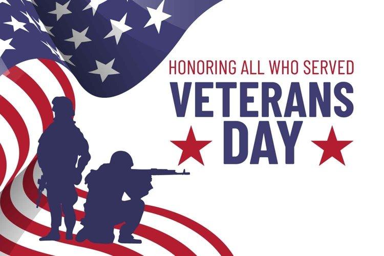 Veteran's day vector banner. example image 1