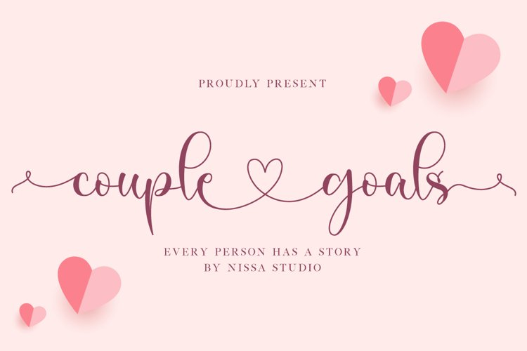 Couple Goals - Romantic Font example image 1