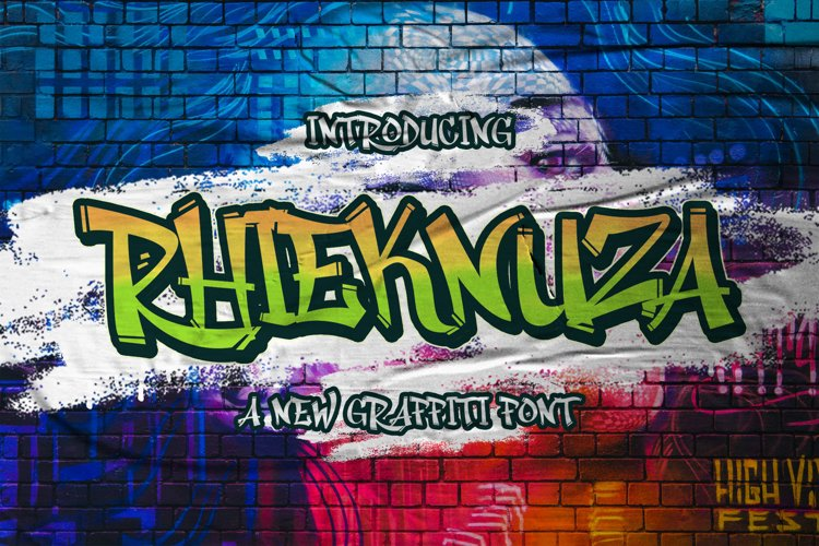 Rhieknuza - Graffiti Font example image 1