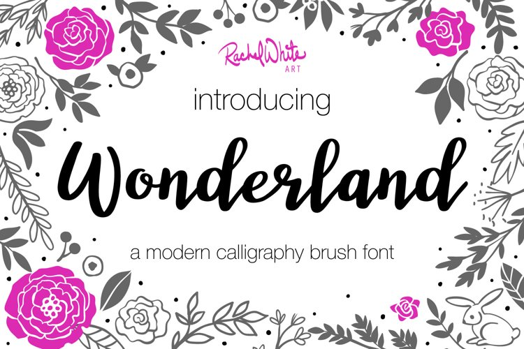Wonderland, a modern calligraphy font