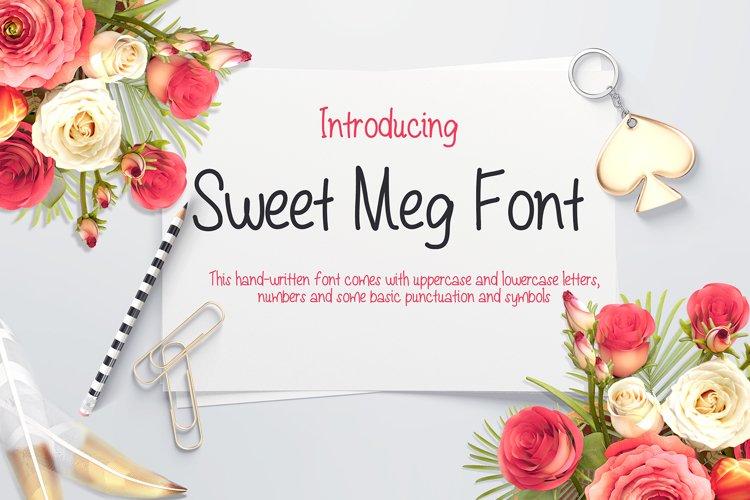 Sweet Meg - a Handwritten font