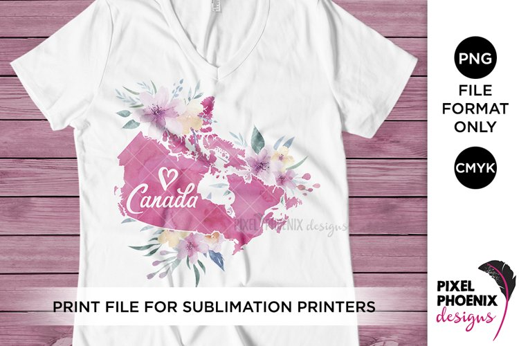 Canada Sublimation Design, Sublimation file example image 1