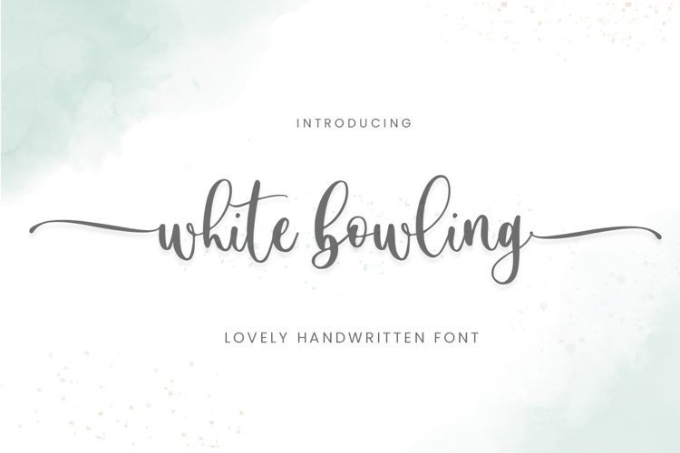 White Bowling Font example image 1