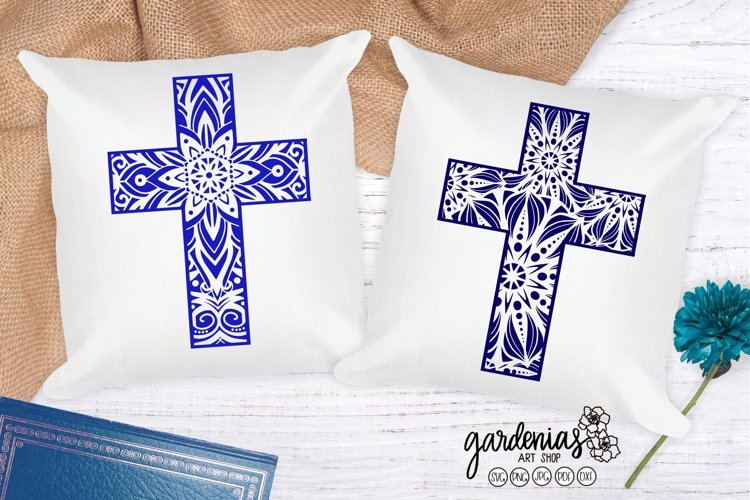 Mandala Cross Design | Cross SVG Cut File | Easter Cross SVG