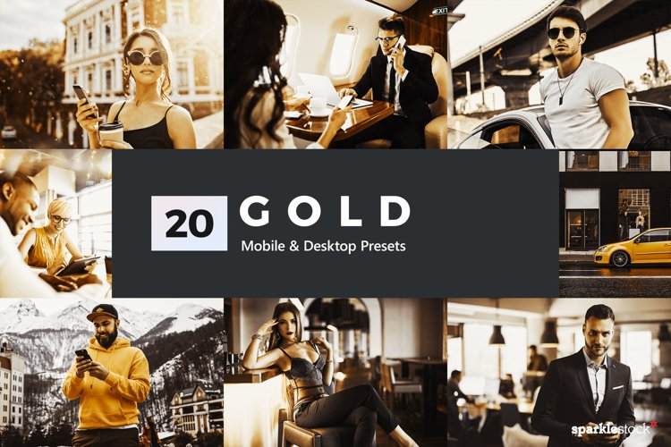 20 Gold Lightroom Presets and LUTs example image 1
