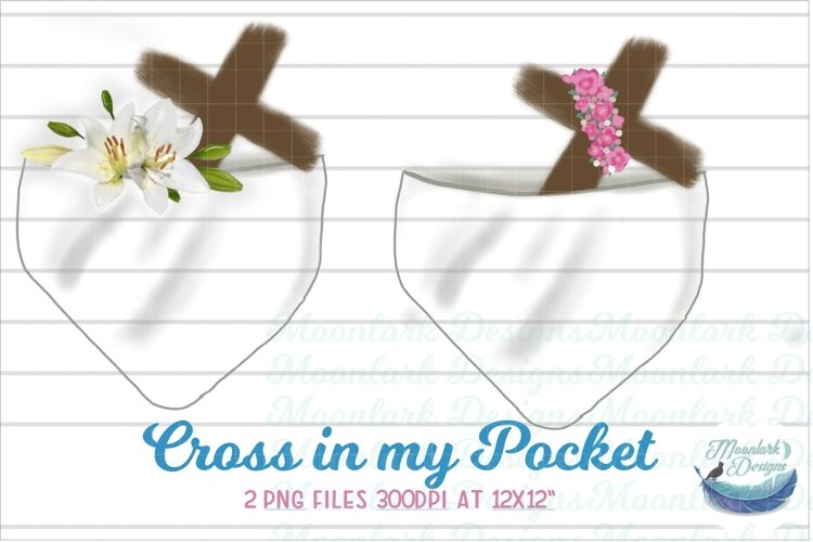 Cross in my Pocket Bundle flowers lily religious  PNG example image 1
