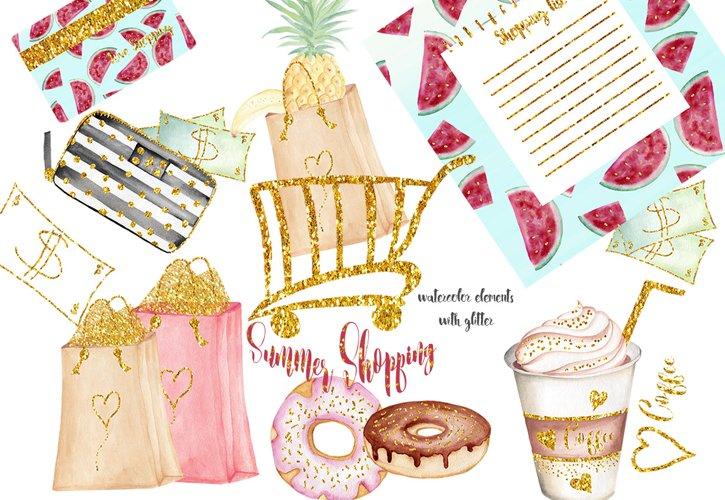 Summer Shopping illustrations