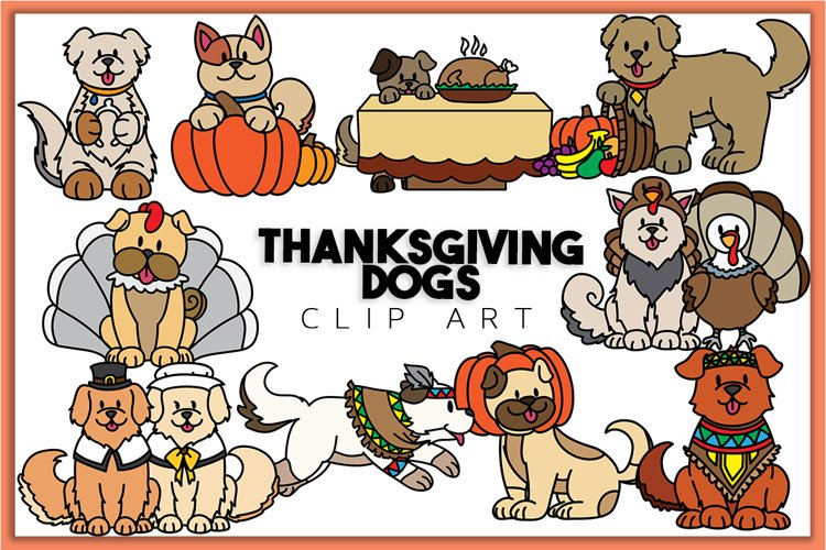 Thanksgiving Dogs Clip art