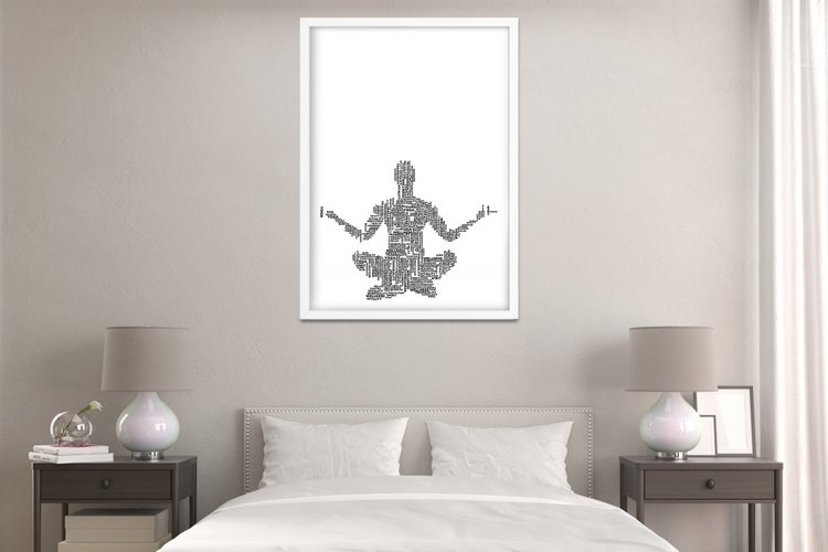 Yoga Words Digital Print Frame not included