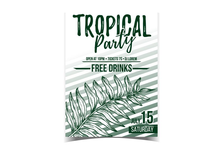 Areca Palm Tropical Exotic Leaf Banner Vector example image 1