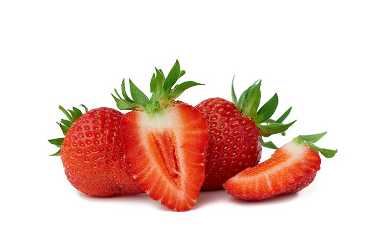 ripe red juicy strawberries lies on a green leaf example image 1