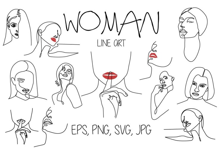 Woman Line Art example image 1