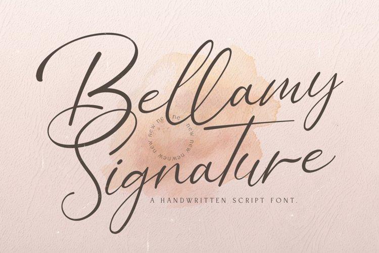 Bellamy Signature - Handwritten Font example image 1