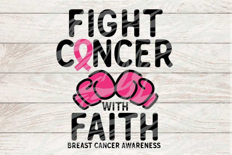 Fight cancer with faith Breast Cancer Awareness example image 1