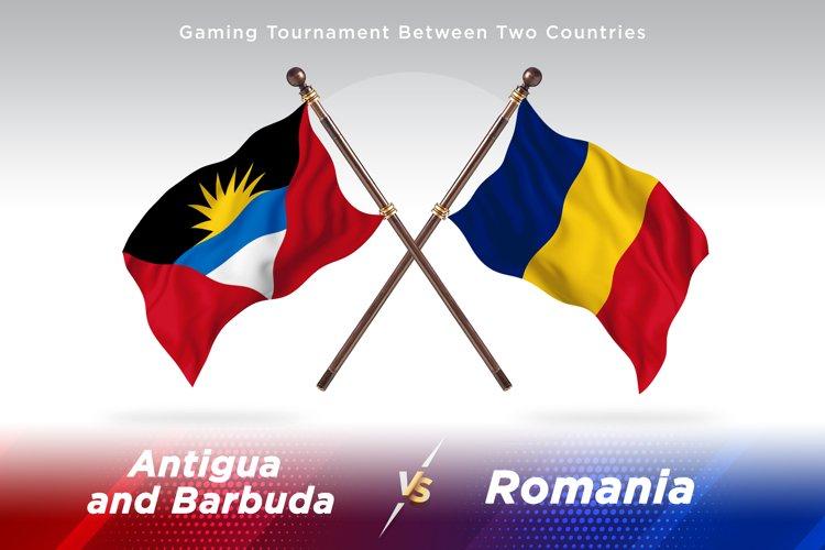 Antigua vs Romania Two Flags example image 1