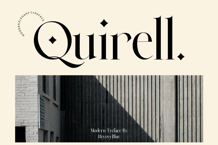 Quirell - elegant display serif example image 1