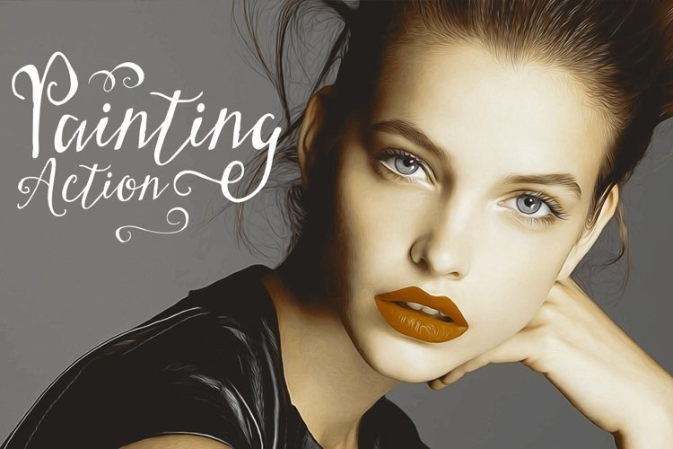 Painting Photoshop Action Arr Effect example image 1