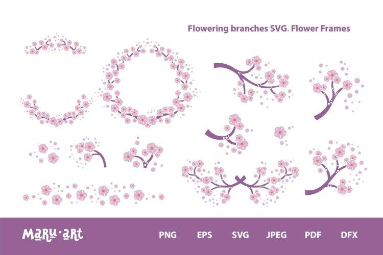 FLOWER FRAME BUNDLE SVG