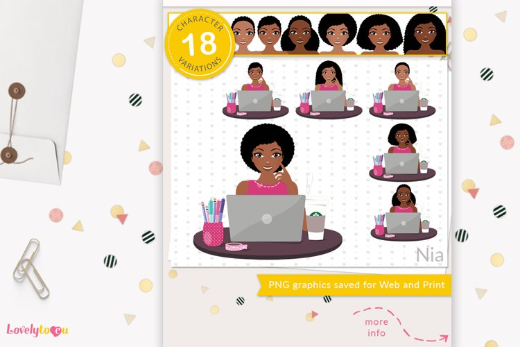 Business woman, girl boss, zoom call - LVY32 Nia example image 1