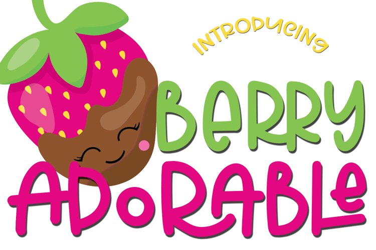 Web Font Berry Adorable Font example image 1
