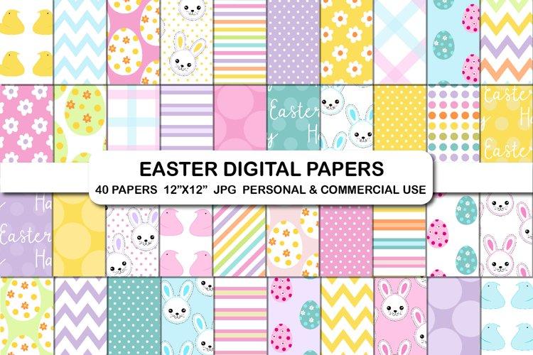Easter digital papers, Easter bunny egg hunt candy paper set
