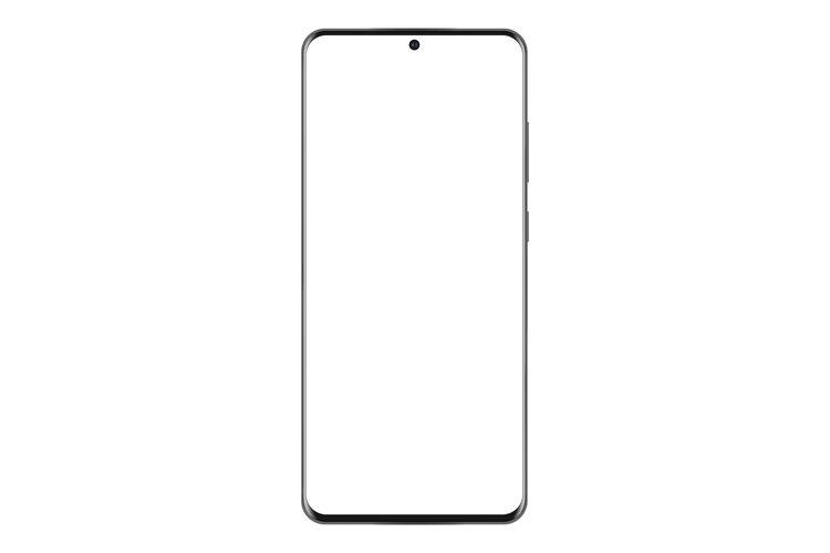 Modern frameless mobile phone mockup isolated example image 1