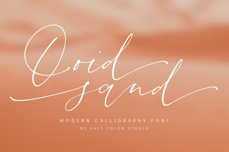 Ooid Sand Calligraphy Script Font example image 1