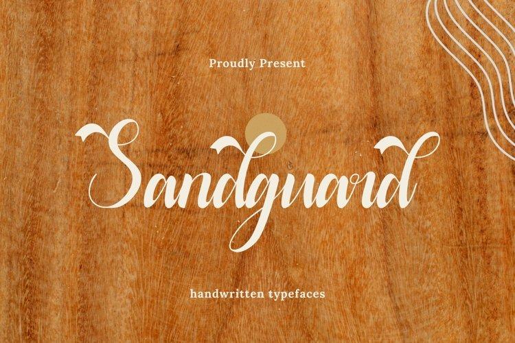 Web Font Sandguard - Script Font example image 1