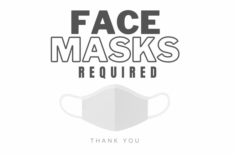 Face Mask Sign for Stores, Businesses & more!