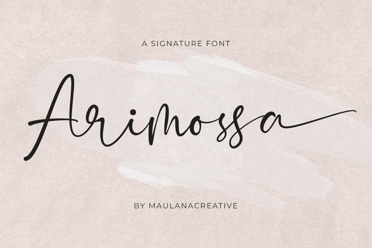 Arimossa Signature Font example image 1