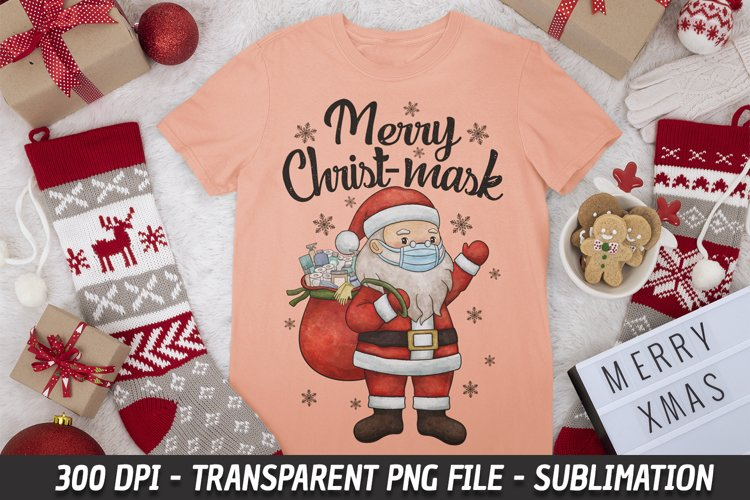 Merry ChristMask Santa 2020 Quarantine Christmas Sublimation