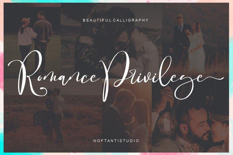 Romance Privilege example image 1