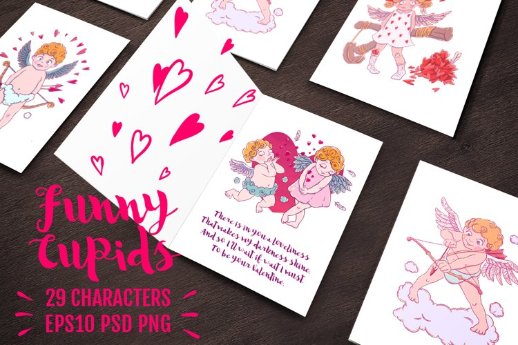 Funny Cupid Set | 29 characters