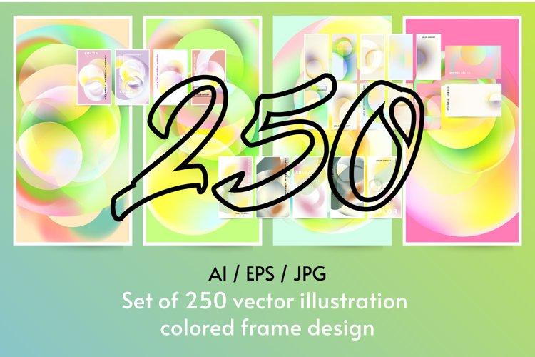 Set of 250 vector illustration colored frame design