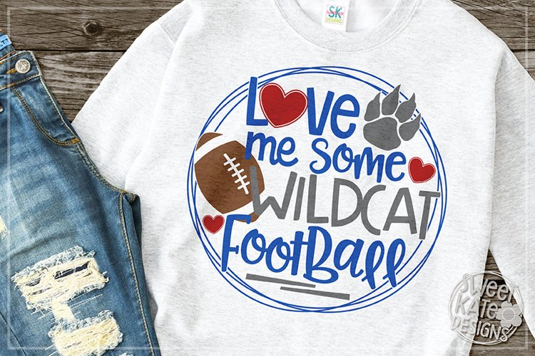 Love Me Some Wildcat Football SVG DXF EPS PNG JPG example image 1