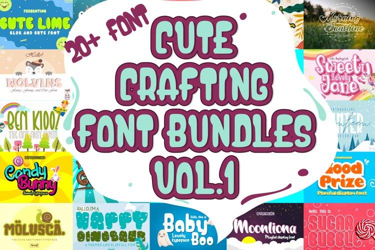 Cute Crafting Font Bundle Vol.1