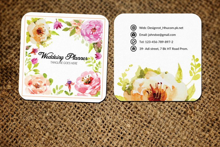 Wedding Decorator Small Business Card example image 1