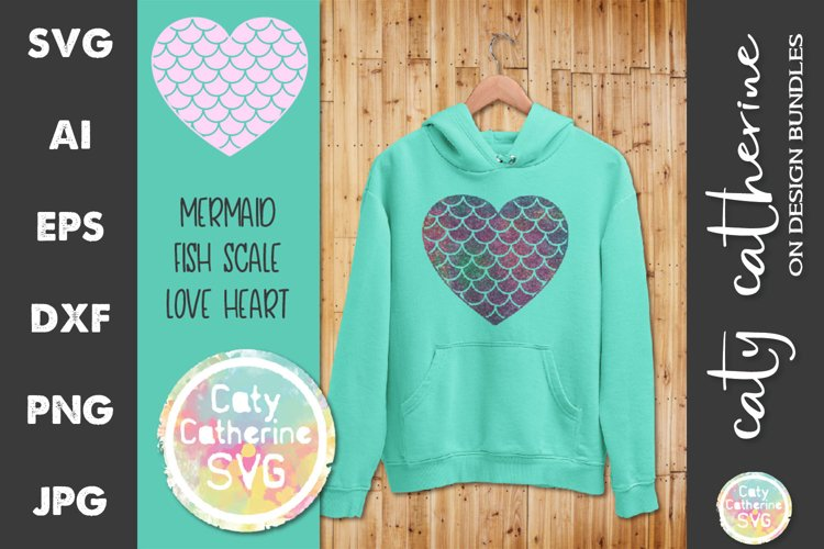 Download Mermaid Fish Scale Love Heart Svg Cut File 645629 Svgs Design Bundles
