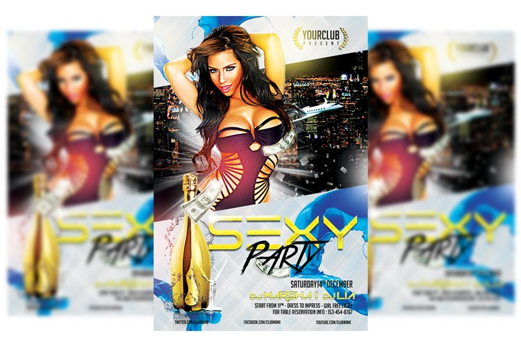 Sexy Night Party Flyer example image 1