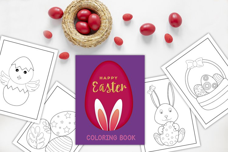 Happy Easter - Coloring book/pages