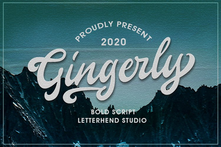 Gingerly - Bold Script Typeface example image 1